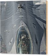 A U.s. Air Force F-16c Fighting Falcon Wood Print by Giovanni Colla