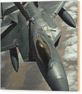 A U.s. Air Force F-22 Raptor Wood Print