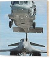 A U.s. Navy Mh-60s Seahawk Helicopter Wood Print