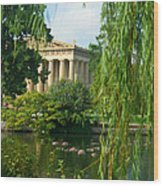 A View Of The Parthenon 17 Wood Print