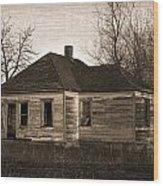 Abandoned Farm House Wood Print by Richard Wear
