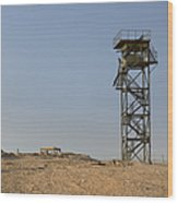 Abandoned Watchtower In The Desert Wood Print