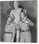 Abbott And Costello Wood Print by Granger