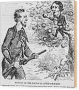 Abraham Lincoln Cartoon Wood Print