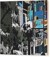 Abstract 24 Wood Print