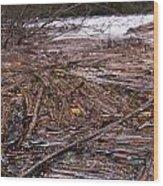 Abstract Flood Wood Print