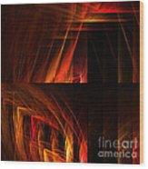 Abstract Forty-seven Wood Print