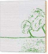 Abstract Tree Art By Shawna Erback Wood Print