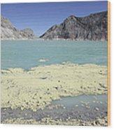 Acidic Crater Lake, Kawah Ijen Volcano Wood Print
