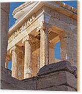 Acropolis Temple Wood Print by Brian Jannsen