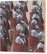 Actors Re-enact A Roman Legionaries Wood Print by Taylor S. Kennedy