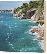 Adriatic Sea Coastline Wood Print