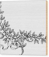 Advertising Art: Wreath Wood Print