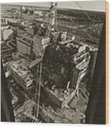 Aerial View Of Chernobyl Soon After The Accident. Wood Print