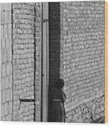 Afghan Girl In Doorway  Wood Print