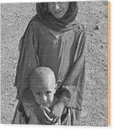 Afghan Girls Wood Print
