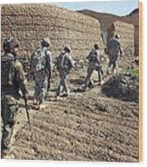 Afghan National Army And U.s. Soldiers Wood Print