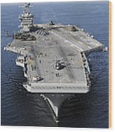 Aircraft Carrier Uss Carl Vinson Wood Print