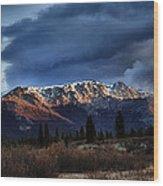 Alaskan Morning Wood Print