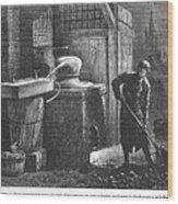 Alcohol: Distillation Wood Print