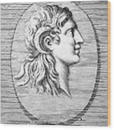 Alexander The Great (356-323 B.c.) Wood Print by Granger