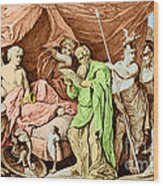 Alexander The Great And His Physician Wood Print