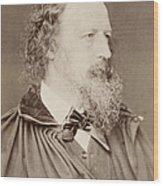 Alfred Tennyson Wood Print