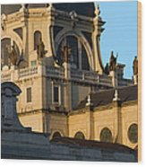 Almudena Cathedral In Madrid Wood Print