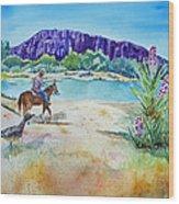 Texas - Along The Rio-grande Wood Print