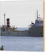 Alpena Ship Wood Print