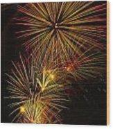 American Pinwheel Wood Print