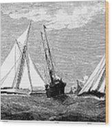 Americas Cup, 1887 Wood Print