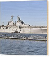Amphibious Assault Ship Uss Wasp Wood Print