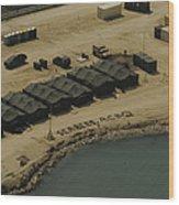 An Aerial View Of The White Beach Wood Print