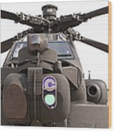 An Ah-64d Apache Helicopter Wood Print