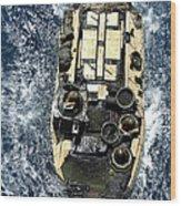 An Amphibious Assault Vehicle Navigates Wood Print