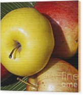 An Apple A Day Wood Print by Denise Pohl