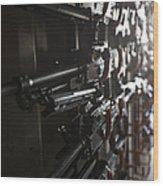 An Armory Of Pk Machine Guns Designed Wood Print