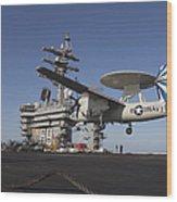 An E-2c Hawkeye Makes An Arrested Wood Print