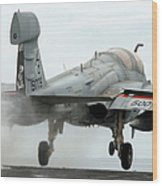 An Ea-6b Prowler Launches Wood Print