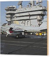 An Ea-6b Prowler Makes An Arrested Wood Print