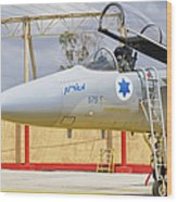 An F-15c Eagle Baz Aircraft Wood Print