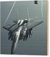An F-15e Strike Eagle Flies Over Iraq Wood Print