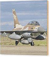 An F-16b Netz Of The Israeli Air Force Wood Print
