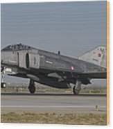 An F-4 Phantom Of The Turkish Air Force Wood Print