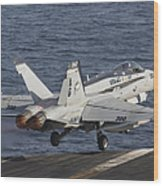 An Fa-18c Hornet Taking Wood Print