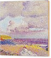 An Incoming Storm Wood Print by Henri-Edmond Cross
