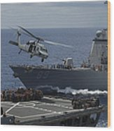 An Mh-60s Knighthawk Helicopter Wood Print
