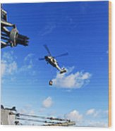 An Mh-60s Sea Hawk Helicopter Wood Print