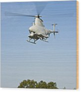 An Mq-8b Fire Scout Unmanned Aerial Wood Print